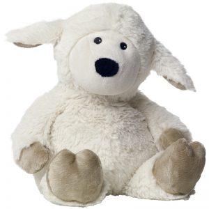 djur - sittande får - vit