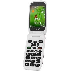 mobiltelefon - vikbar - doro - vit