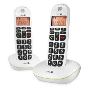 trådlösa telefoner - 2 st- vita