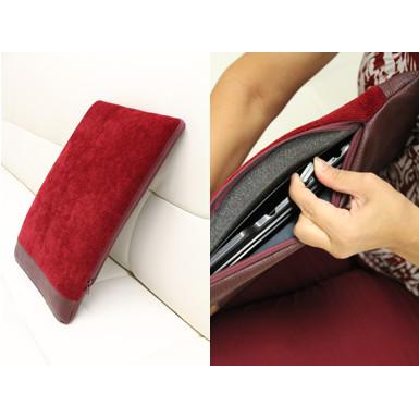 två bilder - röd kudde