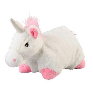 djur - enhörning - vit- rosa