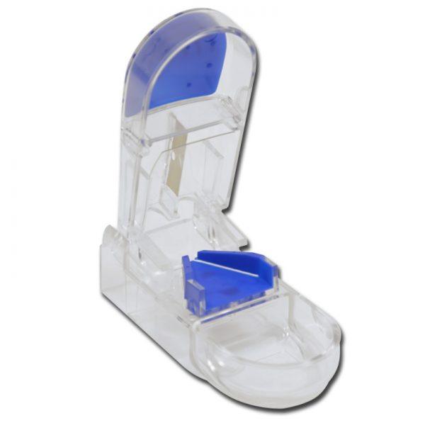 Tablettdelare - vit -blå
