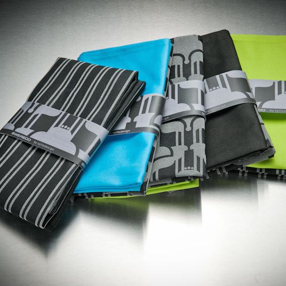 Handdukar i olika färger och mönster