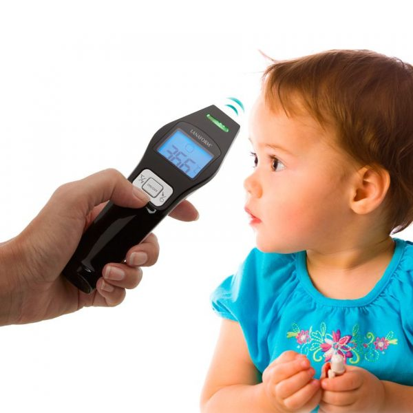 Hand med termometer - barn