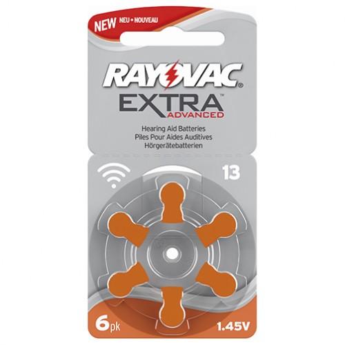 Förpackning med 6 st hörapparatsbatterier - orange