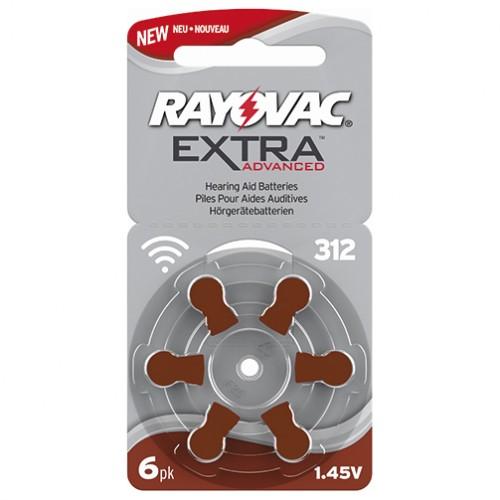 Förpackning med 6 st hörapparatsbatterier - brun