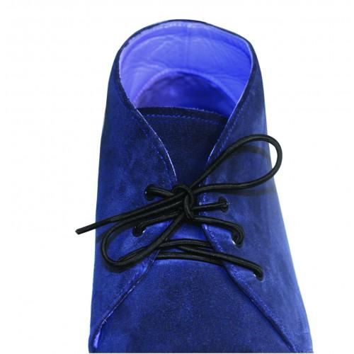 Sko blå med svart skosnöre